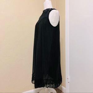 Altar'd State Mesh Keyhole Back Black Lace Dress